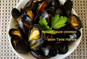 moules sauce colombo
