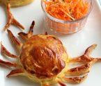 feuilletés au crabe