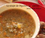 soupe de légumes cuisson des légumes