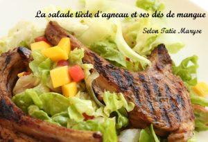 salade tiède avec agneau grillé