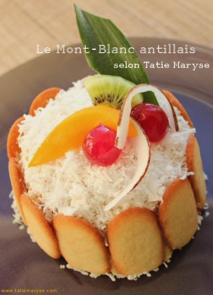 Le mont blanc antillais id al pour les anniversaires - Recette cuisine antillaise ...