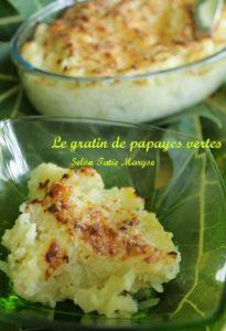 gratin de papaye légumes antillais