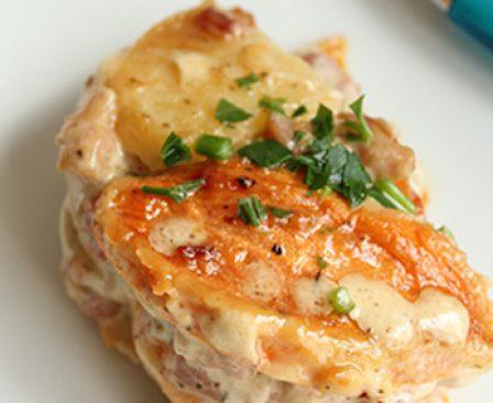 gratin patate douce