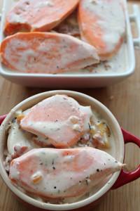 recette patate douce lardons