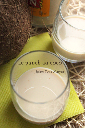 Recette du punch au coco