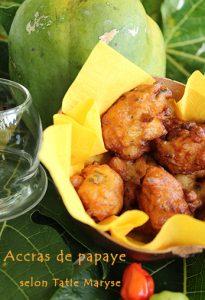 accras de papaye