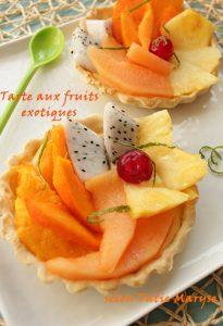 tarte fruits exotiques