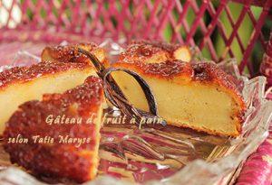 gâteau fruit à pain