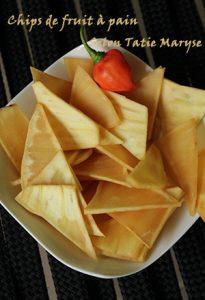 chips fruit à pain