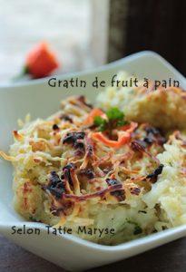 gratin fruit à pain