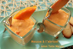 mousse à l'abricot