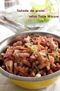 salade de groin apéritifs spécial Chanté Nwel