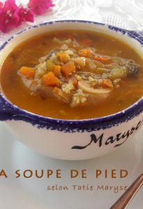 recette soupe de pied de veau