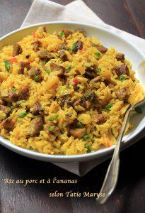 riz au porc ananas
