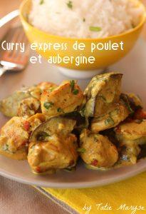 curry express de poulet à l'aubergine