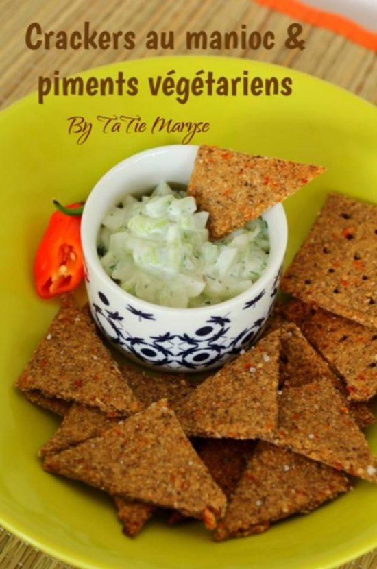Crackers au piment végétarien