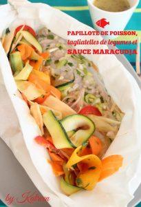 papillote poisson tagliatelles légumes sauce maracuja Manger local