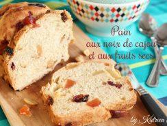 pain aux noix de cajou et aux fruits séchés