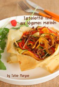 Tarte fine aux légumes