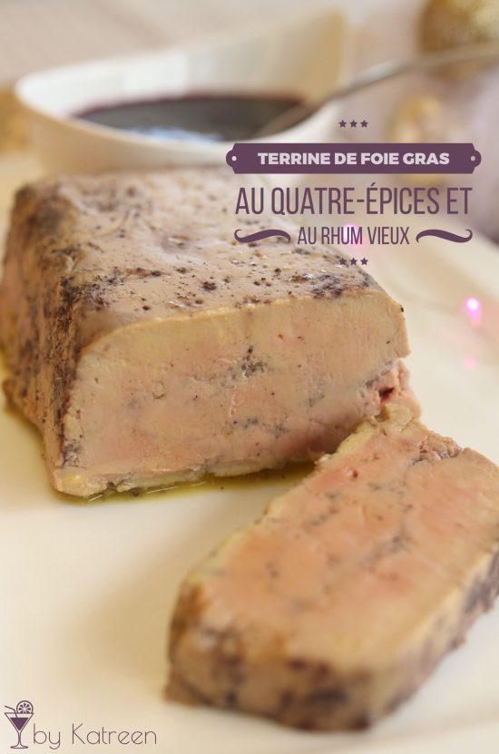 terrine de foie gras aux quatre-épices et rhum vieux