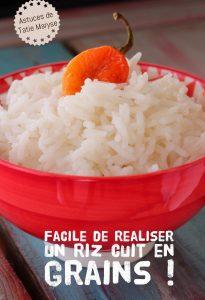cuire un riz en grains