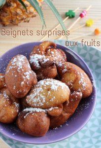 Beignets aux fruits surprises