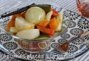 légumes glacés à la vanille