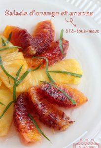 Salade orange-ananas à l'à-tous-maux Manger local