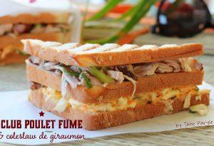 Club sandwich au poulet fumé