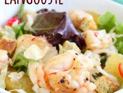 Salade avec langouste