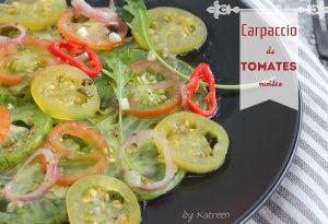 carpaccio tomates