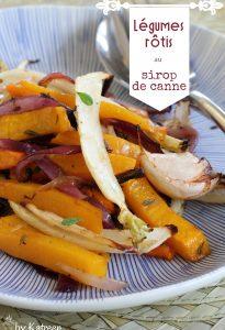 Légumes rôtis au sirop de canne Cuisine créole antillaise cuisson des légumes