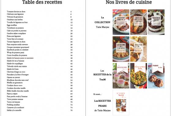 Livre Tatie Maryse premiers pas en cuisine
