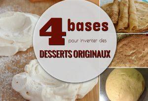 4 bases de desserts originaux antillais