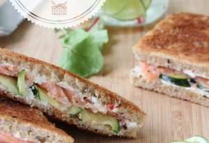 sandwich saumon courgette