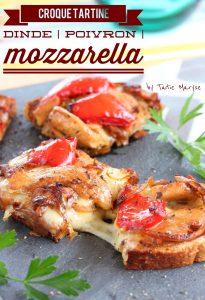 Tartine dinde mozzarella