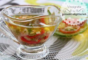 vinaigrette piment végétarien