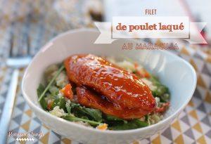 poulet laqué maracuja viandes et fruits