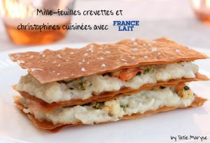 mille feuille christophine crevettes