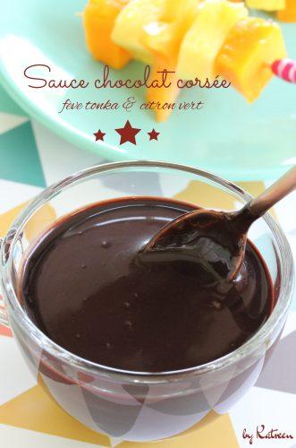 sauce chocolat corsée
