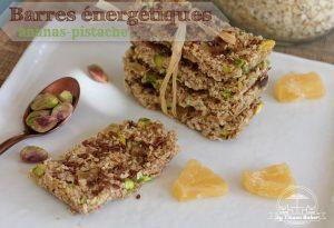 barres énergétiques ananas-pistache Antillais