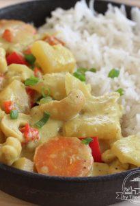 curry de légumes et noix de cajou Antillais