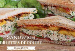 sandwich rillettes de poulet