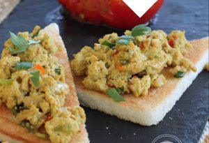tofu brouillé Antillais