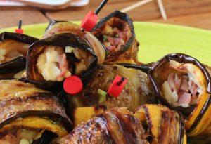 légumes grillés roulés au kiri