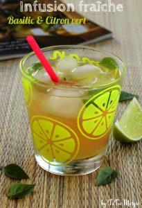 boisson rafraichissante basilic citron vert