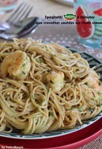 spaghetti aux crevettes panzani
