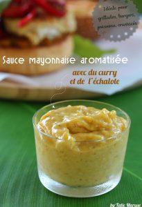 sauce mayonnaise curry échalote