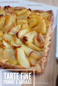 tarte fine pomme ananas