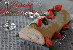 buche mousse fraise